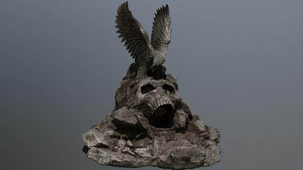 3D skull gate