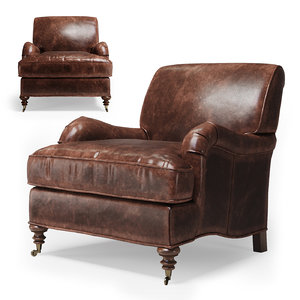 3D restoration hardware barclay armchair