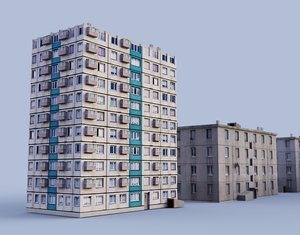 russian houses 3D model