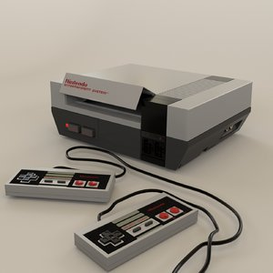 3D nintendo entertainment nes console