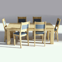 table chairs set 3D model