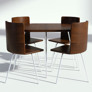 wood wooden table 3D model