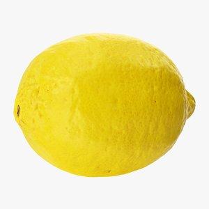 3D lemon 02 hi polys