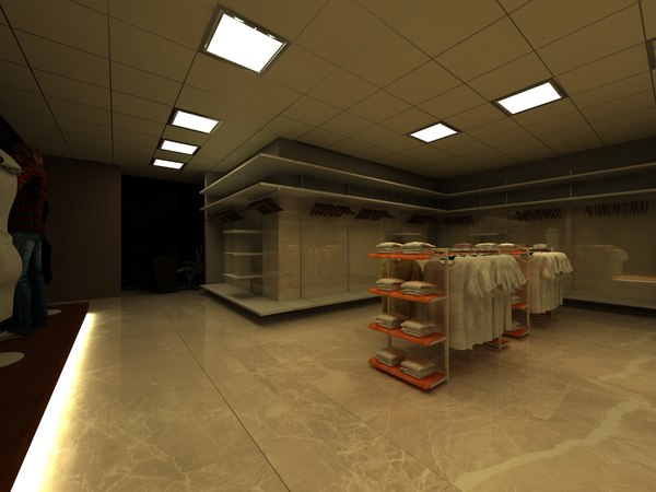 store male clothing 3D