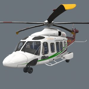 3D real-time aw189 helicopters