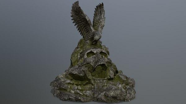 3D skull gate model