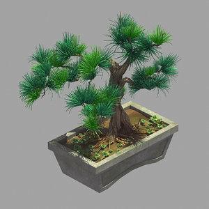 3D bonsai - flowerpot 36