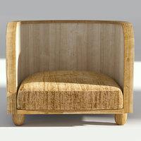 armchair chair retro model