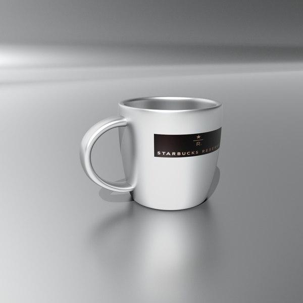 starbucks reserve cup 3D model
