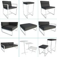 3D sit metallic outdoor furniture chair