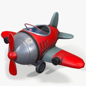 ready cartoon airplane 3D model