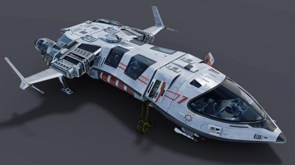 3D spaceship spacecraft model