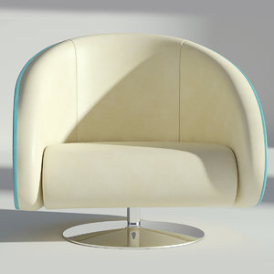 3D leather rotating armchair model