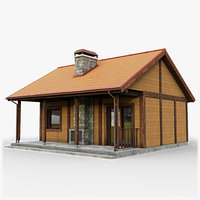 3D gameready cottage 6