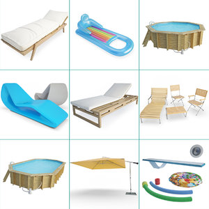 pools accessories 01 swimming 3D model