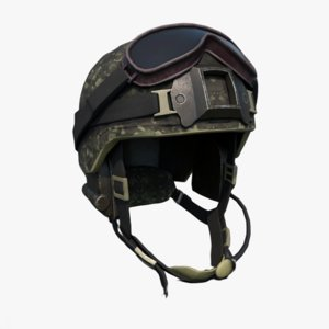 3D model scifi helmet