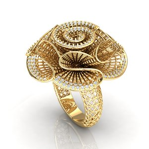 ring jewellery fashion 3D