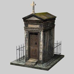 3D old mausoleum