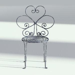 metal chair bistro model
