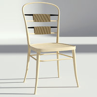 3D chair wooden retro