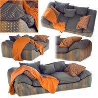 sofa ilaria blanche 3D model