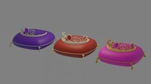 3D princess crown model