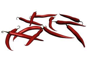 red chilli 3D model