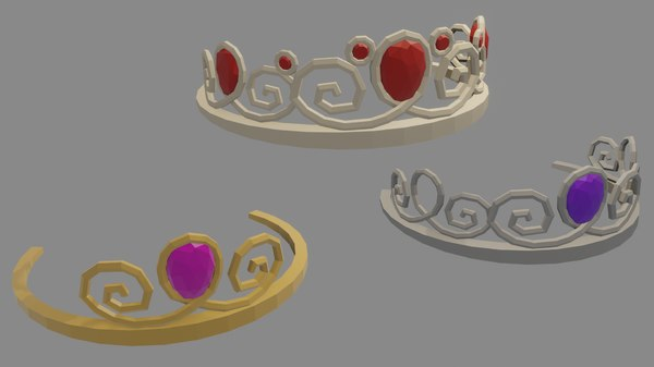 3D princess crown model