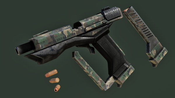 pistol gun weapon 3D model