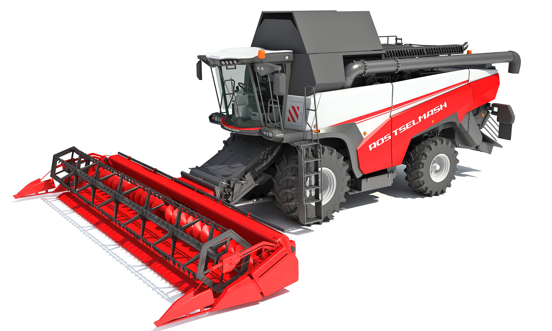 3D rostselmash combine harvester model