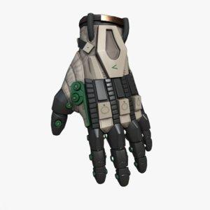 3D sci-fi glove