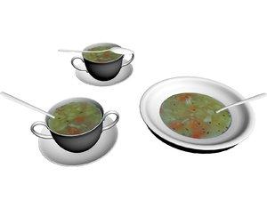 vegetable soup 3D model