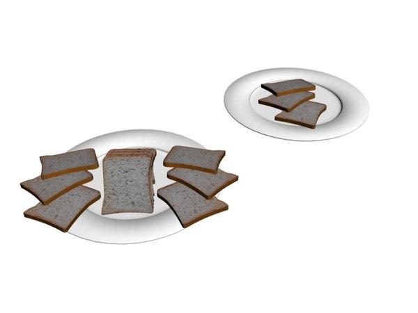 3D bread slice