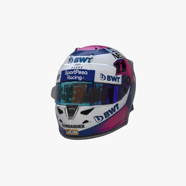 3D model perez 2019 helmet