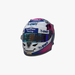 3D model perez 2019 helmet