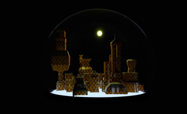 city district modeled 3D model