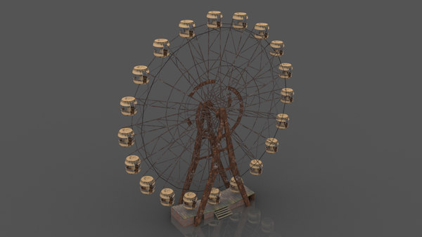 3D pripyat ferris wheel model