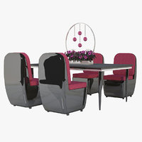 3D restaurant furniture 2