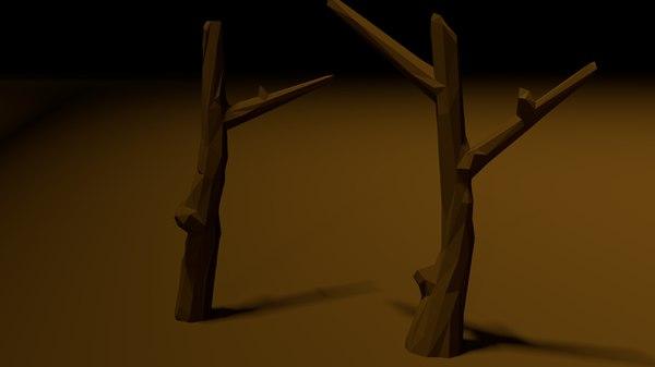 3D tree poligons