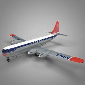 3D boeing 377 stratocruiser northwest model