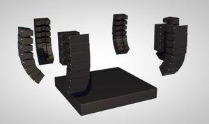 linear speaker music stage 3D model