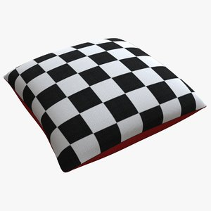 3D model decorative pillow