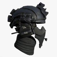 scifi helmet 2 3D model