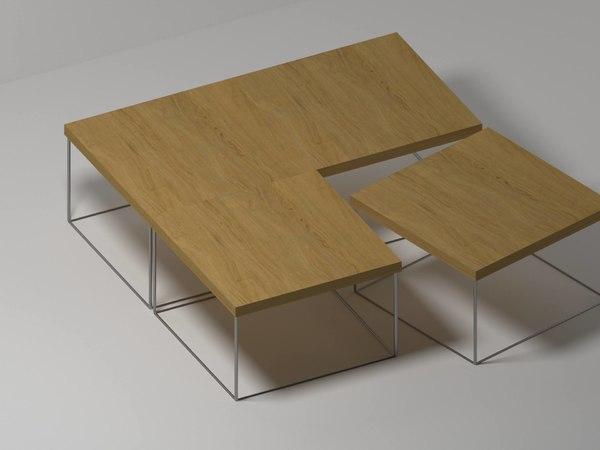 3D coffee table steel model