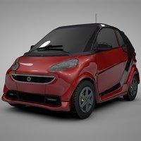 smart daimler red black model