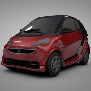 smart daimler red black model