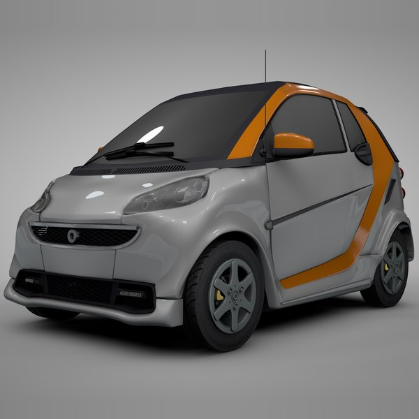 3D smart daimler white orange