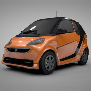 smart daimler orange black 3D