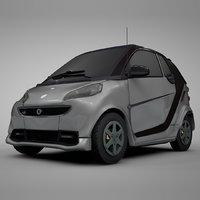 smart daimler silver black 3D model