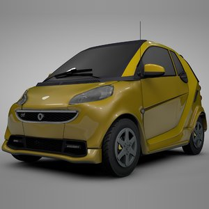 3D model smart daimler yellow l320